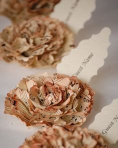 place cards- how lovely is this!