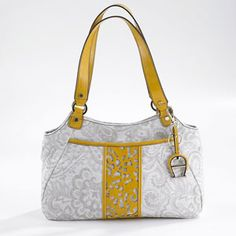 ETIENNE AIGNER FLORAL FABRIC TOTE | authentic stuff at reasonable price