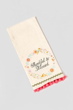 Thankful & Blessed Tea Towel - gift-clalternate2 Flour Sack Towels, Tea Towels, Thankful And Blessed, Kitchen Towels, Cool Kitchens, Napkins, Cricut, Sewing, Fun