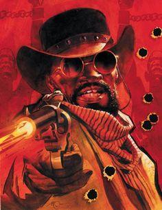 Django Unchained : la couverture de l'adaptation en bande dessinée