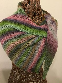 This wrap starts with just a few stitches and grows until it is as large as you like or you run out of yarn.