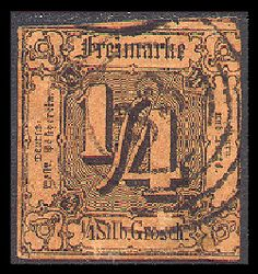 Thurn und Taxis stamp 1852 0.25s - Thurn-und-Taxis-Post – Wikipedia