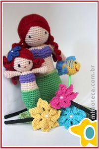 ARIEL  Mimoteca - emoção em arte Crochet Amigurumi