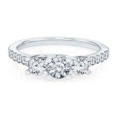 1 ct. tw. Three-Stone Diamond Ring in 14K Gold