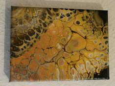 #Acrylbild 13x18 Gold, Braun, Kupfer, Weiß #etsy #kunst #malerei