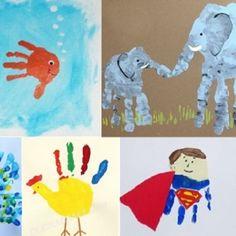 25 idées créatives d'empreinte de main !