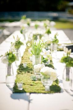 tablescape - gorgeous for a summer wedding