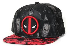 b052de78e6a Deadpool- Allover Print Snapback Hat 1 x Marvel Comics Deadpool 2 Tone  Sublimated Snapback Hat. Cap Design features Deadpool Logo embroidered on  the front ...