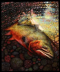 Fish Photo to Rad Oil Painting