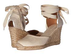 Soludos Tall Wedge Linen Blush - zappos.com