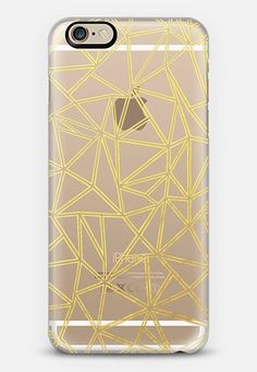 Abstract Blocks Gold Transparent iPhone 6s case by Project M | Casetify