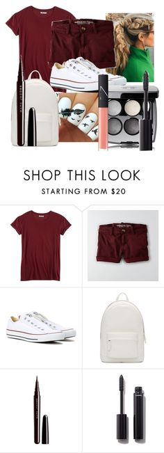 """Full Burgundy"" by maralf-1 on Polyvore featuring Hybrid, American Eagle Outfitters, Converse, PB 0110, Marc Jacobs, Chanel and NARS Cosmetics"