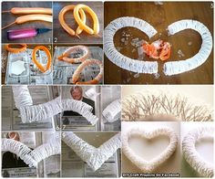 DIY How to Make Heart of threads .