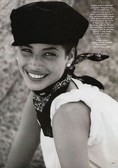 """Christy Turlington in """"Great Buys"""" by Patrick Demarchelier for Vogue US, May 1991."""