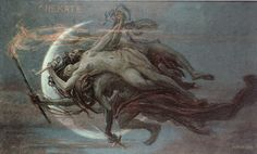Hekate by Maximilian Pirner. Hecate was the goddess of magic, witchcraft, the night, moon, ghosts and necromancy.