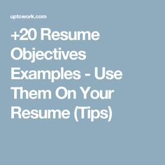 Sample Career Objectives  Examples For Resumes  ResumesCards