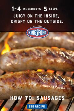Grill Recipes, Pork Recipes, Recipies, Sausage Meals, Sausage Recipes, Kings Ford, Bolillo Recipe, Pig Feet Recipe, Sausage Ingredients