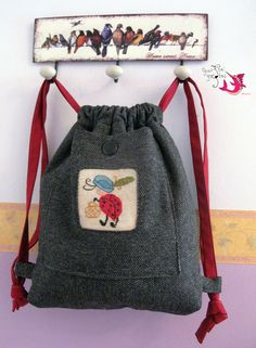 "Backpack ""Childhood embroidery"""