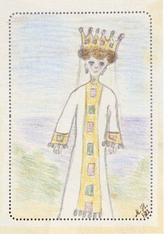 Grand Duchess Maria's Drawing. The woman represented by Marie wears what it seems a crown instead of a kokoshnik, but the dress has a clear similarity with the boyarina dresses worn at this masquerade.