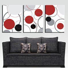 Abstrait Toile Autres artistes Impression sur Toile Trois Panneaux Prêt à accrocher – CAD $ 83.39