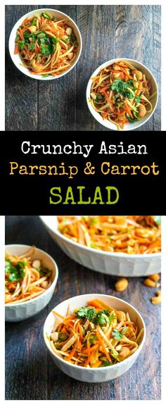 This crunchy Asian parsnip & carrot salad is fresh and tasty and you ...