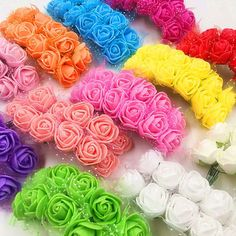 144 PCS (2.5 cm/flower) artificial mini bubble rose bouquets of flowers/home decoration DIY wedding garland collage gift box