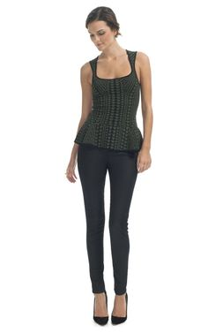 Loving the peplum and this Torn by Ronny Kobo top