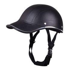 Motorcycle Anti-UV Helmet Baseball Cap Style Plaid Safety Half Helmet Black e5f6652ba