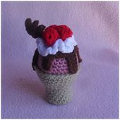 Ravelry: Ice Cream Cone Cup pattern by CreativeCrochetWorkshop