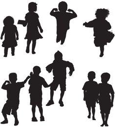 Vectores libres de derechos: Adorable children acting cute
