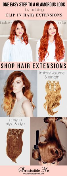 The perfect day starts with cute hair. Try a dramatic hairstyle change with Irresistible Me 100% Human Remy clip-in hair extensions. Sign up to shop our entire collection of premium clip-in hair extension, including 12 different colors to match perfectly your hair color.