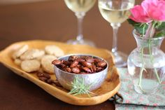 Rosemary Honey Spiced Almonds and Parmesan Crackers - A Busted Picnic Spiced Almonds, Birthday Dinners, Crackers, Parmesan, Cooker, Delish, Breads, Dips, Picnic