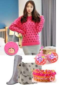 """""""Pink polka dot"""" by chicroo on Polyvore"""