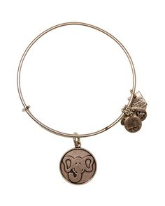 Layer on Alex and Ani's elephant bangle for luck, loyalty and inspiration-just what you need for a one-of-a-kind wrist design.20% of all sales from The Elephant Charm, with a minimum donation of $5,00