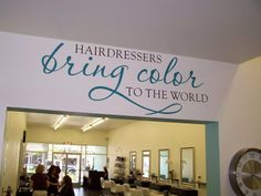 perfect expression for the salon! perfect expression for the salon! perfect expression for the salon! perfect expression for. Salon Quotes, Hair Quotes, Hair Sayings, Fun Sayings, Home Hair Salons, Home Salon, Beauty Shop, Diy Beauty, Beauty Tips