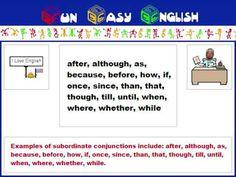▶ English #Grammar #Subordinate #Conjunction - YouTube Subordinating Conjunctions, 8th Grade Ela, Prepositions, Science Activities, English Grammar, Word Work, My Passion, Writing Tips, Language Arts