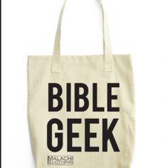 Bible Geek Tote Bag in $26.95