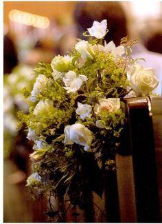 Pew arrangement Floral Wedding, Wedding Bouquets, Wedding Flowers, Wedding Day, Pew Decorations, Wedding Decorations, Pew Ends, Tatt, Stems