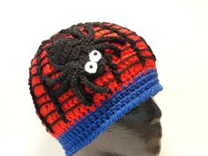Along Came a Spider Beanie - CROCHET PATTERN