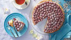Malinový koláč s francúzskym krémom