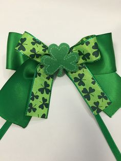 A personal favorite from my Etsy shop https://www.etsy.com/listing/223250836/st-parricks-day-bow