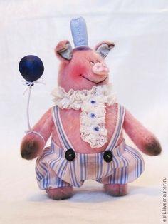 Купить Свиняткин идет на праздник! - розовый, поросенок, свинка, свин, хрюшка, тедди, мишки тедди