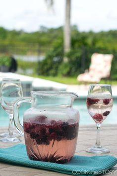 Homemade Berry Wine Cooler, 12 Summery Margaritas (and More)- This homemade berry wine cooler is easy to make and perfect for summer barbecues. It's made with frozen berries which chill the drink and give it flavor and color!