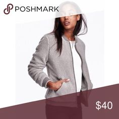 Faux-Shearling Bomber Jacket Great neutral! Perfect for Fall 🍁🍂 Old Navy Jackets & Coats