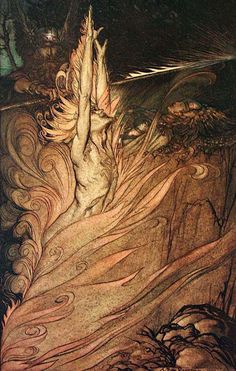 The Rhinegold & The Valkyrie : Arthur Rackham