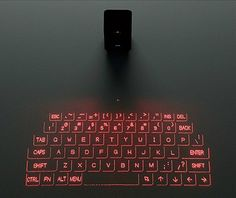 We featured a virtual laser keyboard for computer last year. Now elecom has applied the projection technology on Android and iOS devices. Futuristic Technology, Cool Technology, Technology Gadgets, Technology Design, Energy Technology, Digital Technology, E Learning, Bluetooth Keyboard, Computer Keyboard