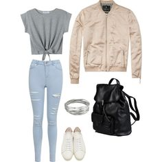 Wiosenny wygląd by skezjablog on Polyvore featuring moda, Scotch & Soda, Miss Selfridge, Yves Saint Laurent, Doucal's and Whistles