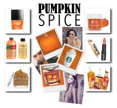 """""""Pumpkin Spice: Beauty"""" by dianaham ❤ liked on Polyvore featuring beauty, philosophy, Yankee Candle, Paula Dorf, Chapstick, Ilike Organic Skin Care and Butter London"""
