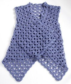 Mesh VestbyDoris Chanon Ravelry.  Published inLion Brand Yarn Online Patterns- this pattern is available for free.