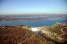 Gates open at Table Rock Dam.